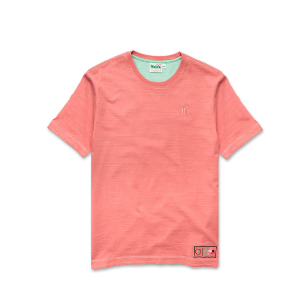 "Diadora x AFEW Men's ""Highly Addictive"" T-Shirt- Coral"
