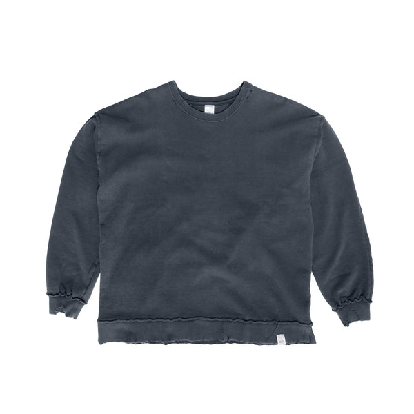 Magic Stick Destroyed Crewneck- Black