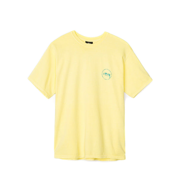 Stussy Men's Old Stamp Pig Dyed Tee- Lemon