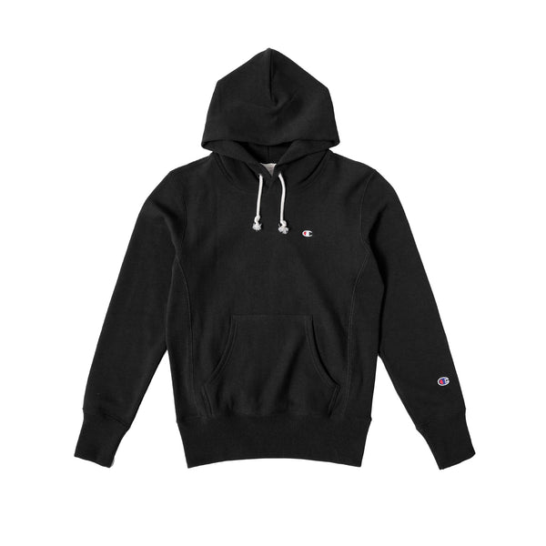 Champion Men's Hooded Sweatshirt- Black