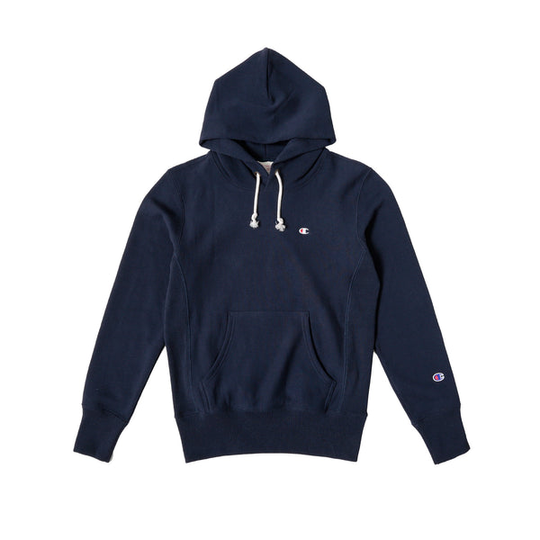 Champion Men's Hooded Sweatshirt- Navy