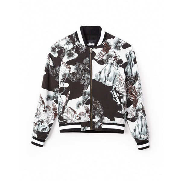 Stussy Women's Falcon Souvenir Jacket- Black