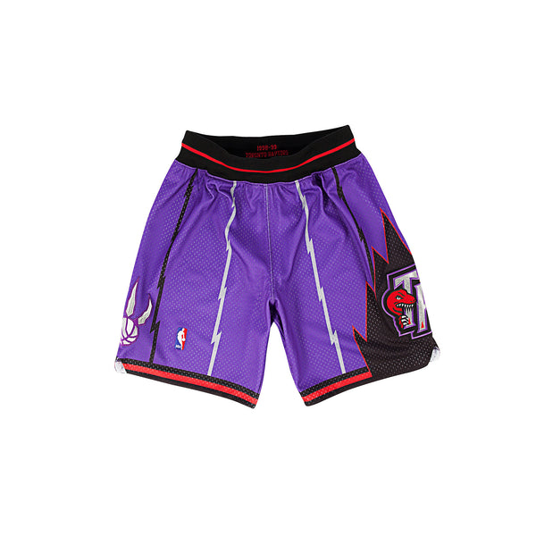 Mitchell & Ness Men's Toronto Raptors Authentic Basketball Shorts- Purple