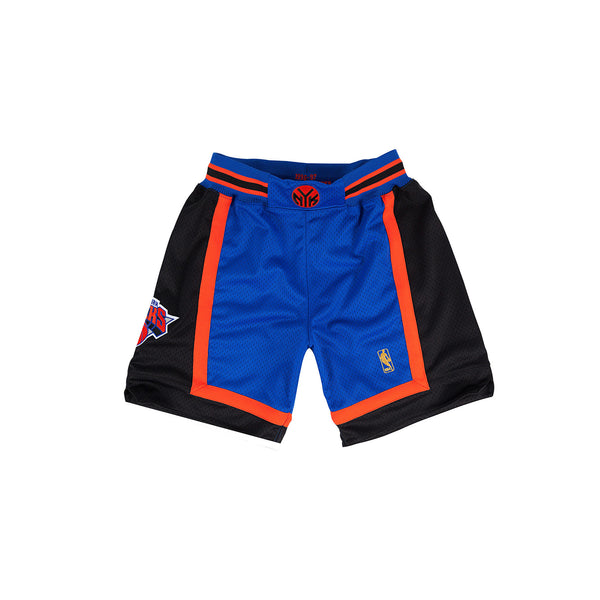 Mitchell & Ness Men's New York Knicks Authentic Basketball Shorts- Blue