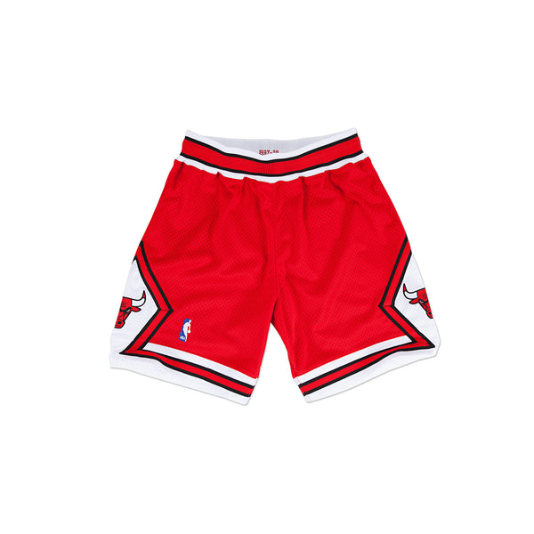 Mitchell & Ness Men's Chicago Bulls Authentic Basketball Shorts- Red