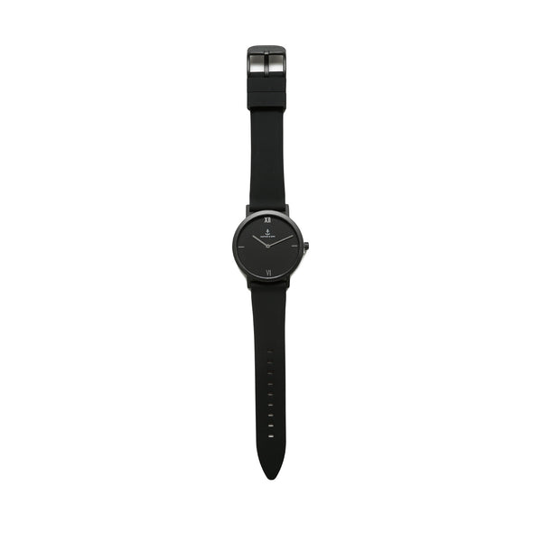 "Kapten & Son Pure ""Nox"" 38MM Watch- Anthracite Black"