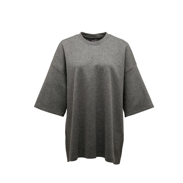 Puma, Puma Fenty, Puma by Rihanna, Oversized Crew Neck, 573183-03, Charcoal Heather, Grey