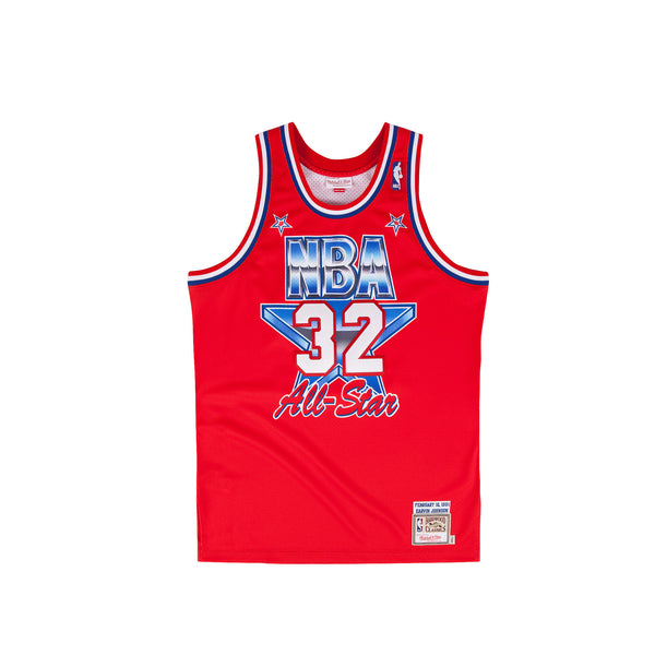 Mitchell & Ness Men's Magic Johnson Authentic Jersey- Red