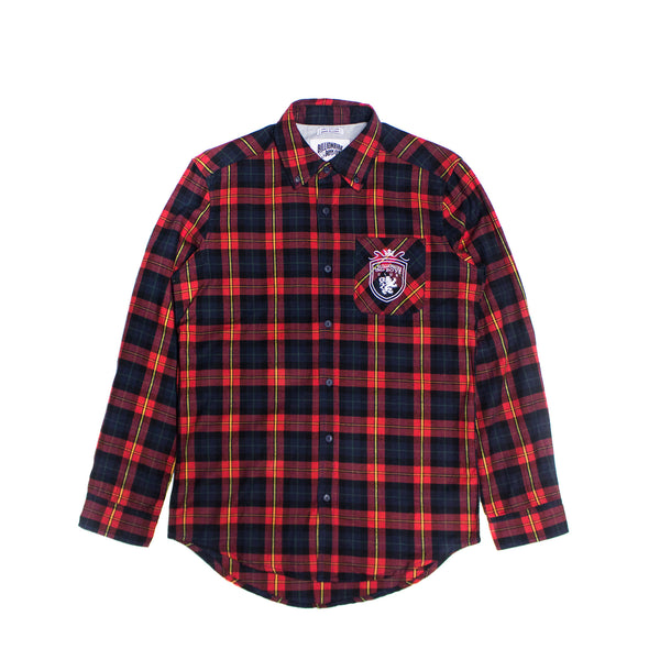 Billionaire Boys Club Crest Check Woven - Navy