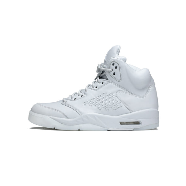 "Air Jordan Men's 5 Retro Take Flight ""Triple White"" [881432-003]"