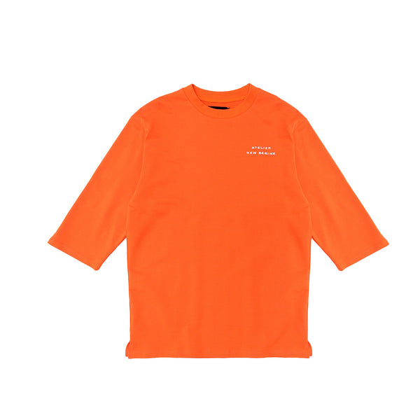 Atelier New Regime 3/4 Sleeve Tee - Orange
