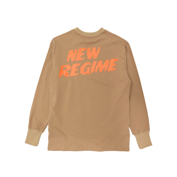 Atelier New Regime Logo Longsleeve - Brown