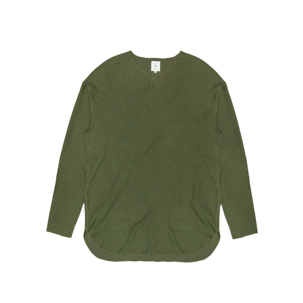 Blurhms Men's Rough & Smooth Thermal Overneck - Olive