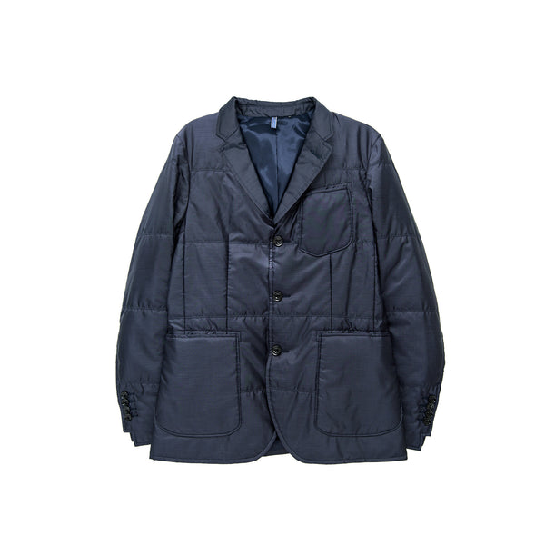 EFM Men's Elliot Quilted Blazer - Navy