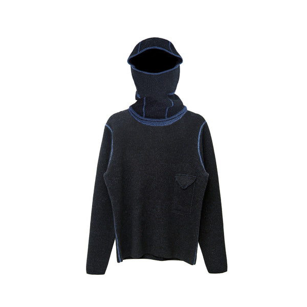 EFM Men's Spectre Removeable Hood Sweater - Black