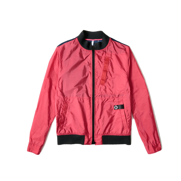 EFM Men's Co-Pilot Bomber Jacket- Red/Navy