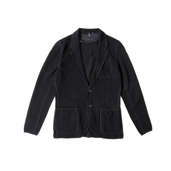 EFM Men's Leisure Sweater Blazer- Black