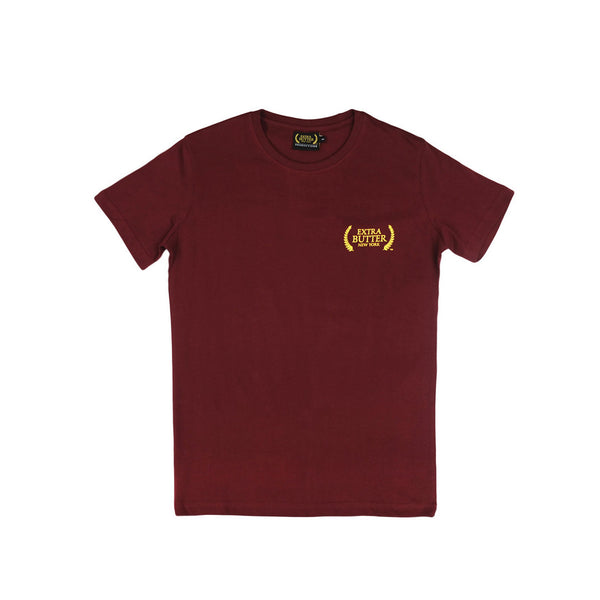 Extra Butter Badge Tee Slim Fit - Maroon