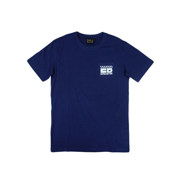 Extra Butter 1First Quality1 Slim Fit Pocket Tee - Navy