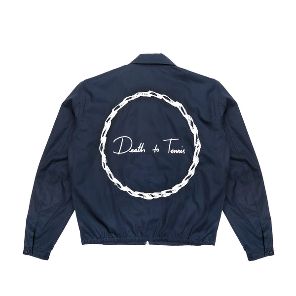 Death to Tennis McCarthy Zip-Up Jacket- Navy