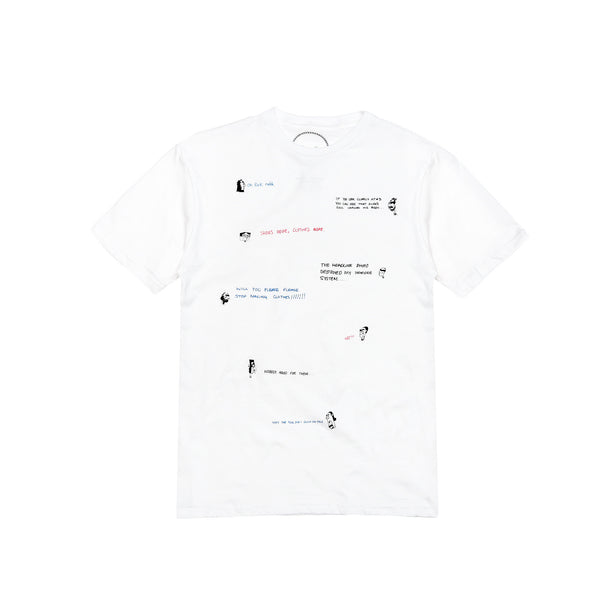 "Death to Tennis Men's ""Opi"" S/S T-Shirt- White"