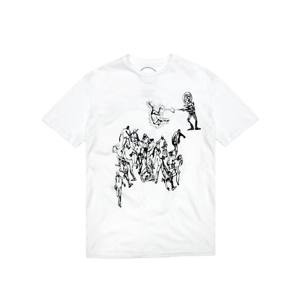 "Death to Tennis Men's ""Superior Race"" S/S T-Shirt- White"