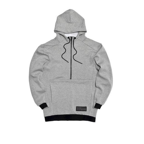Extra Butter Fincher Two-Shot Hoodie - Light Grey