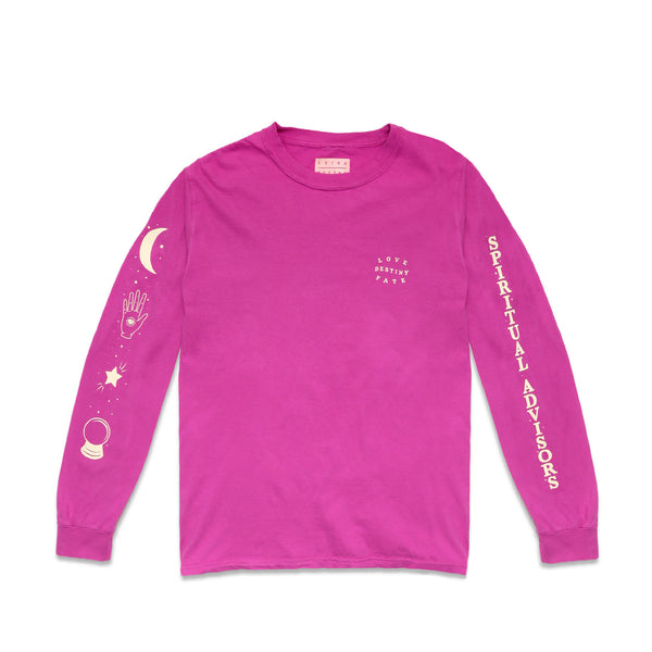 Extra Butter Spiritual Advisors Long Sleeve- Raspberry
