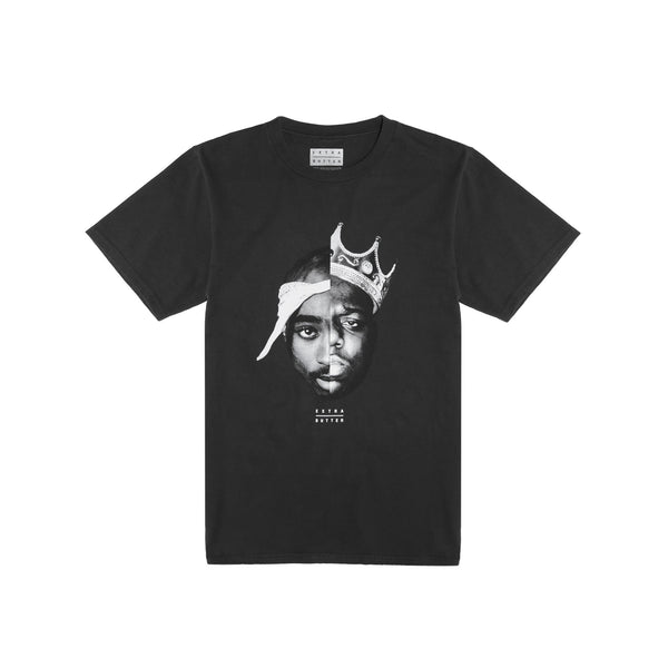 Extra Butter Split Personality Tee (Coast 2 Coast) - Black
