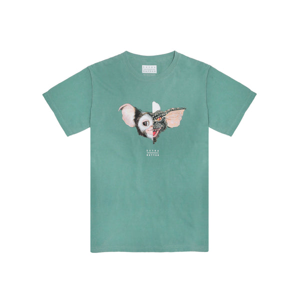 Extra Butter Split Personality Tee (Stripemo) - Sage