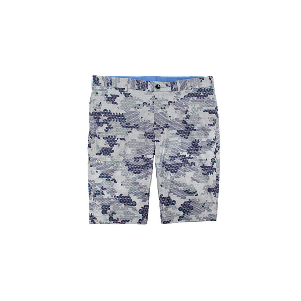 EFM Men's Mayer Flat Front Short - Grey Camo