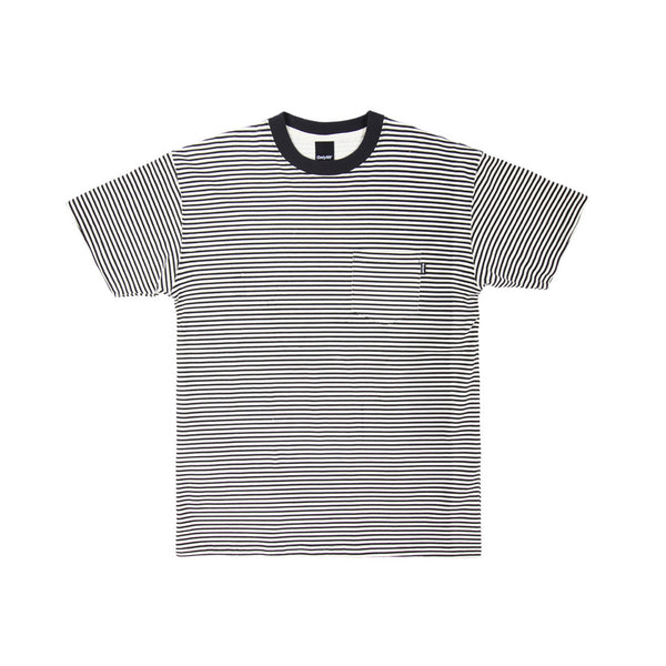 Only NY Men's Mercer Stripe Pocket T-Shirt- White