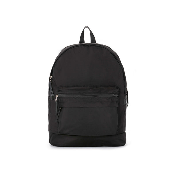 taikan lancer backpack, taikan, lancer, backpack, black, back to school, bags, backpacks, bag, nylon, nylon lining, leather, nickel, nickel finish, school, travel, durable