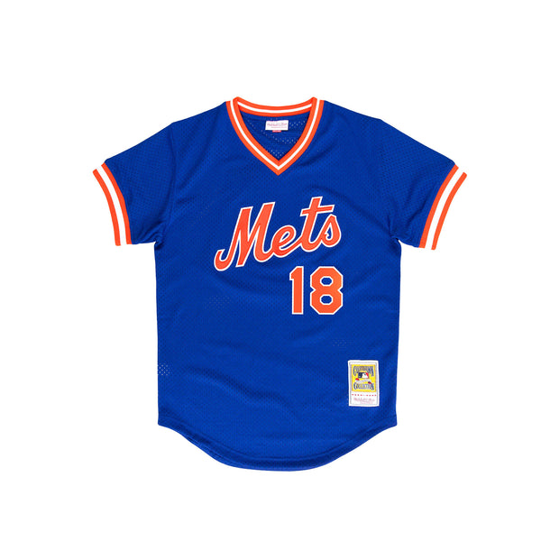 "Mitchell & Ness Men's ""New York Mets"" Authentic 1986 BP Jersey- Orange"