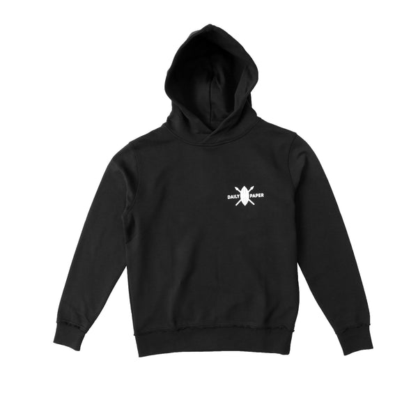 Daily Paper Men's Shield Logo Hoodie- Black