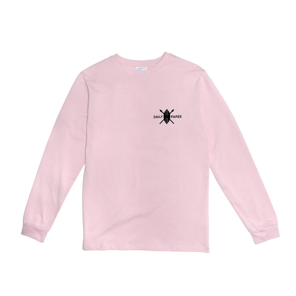Daily Paper Men's Pink Omo Valley Longsleeve T-Shirt- Pink