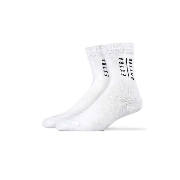 Extra Butter Butter Toes Top Sock - White