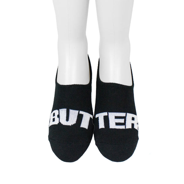 Extra Butter Butter Toes Ghost Sock - Black