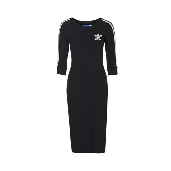 Adidas Women's 3-Stripes Dress- Black