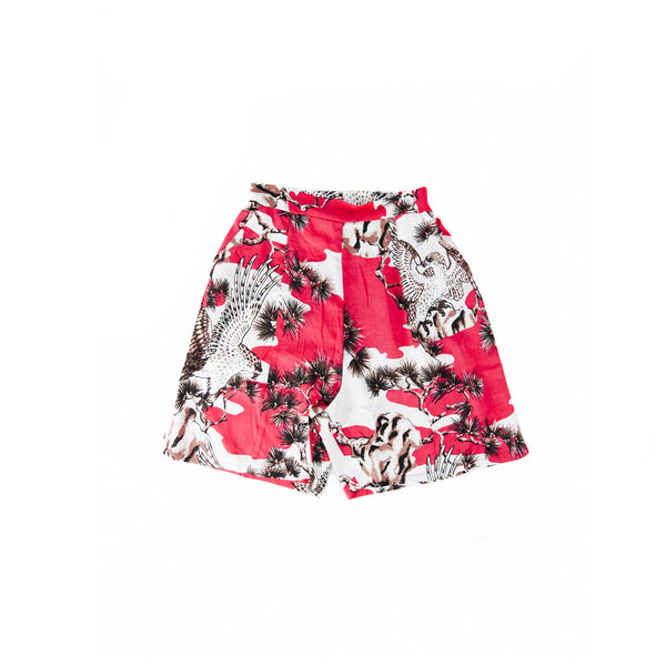 Stussy Women's Falcon Boxer Shorts- Red