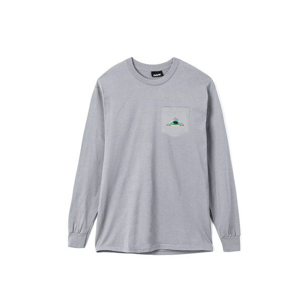 Only NY Catskill L/S Pocket Tee - Concrete
