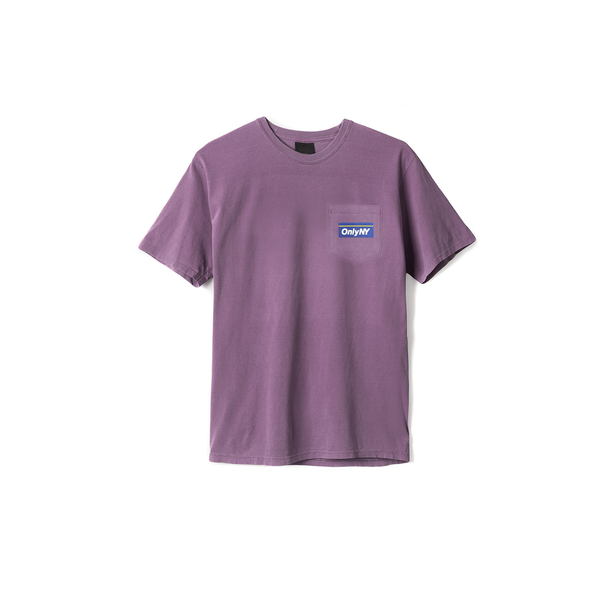 Only NY Subway Pocket Tee - Eggplant