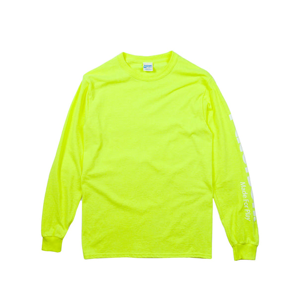 Paterson Men's Logo L/S Tee - Neon Green