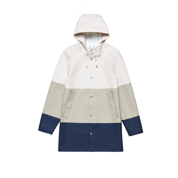 Stutterheim Large Strip Potato Rain Jacket- Tan