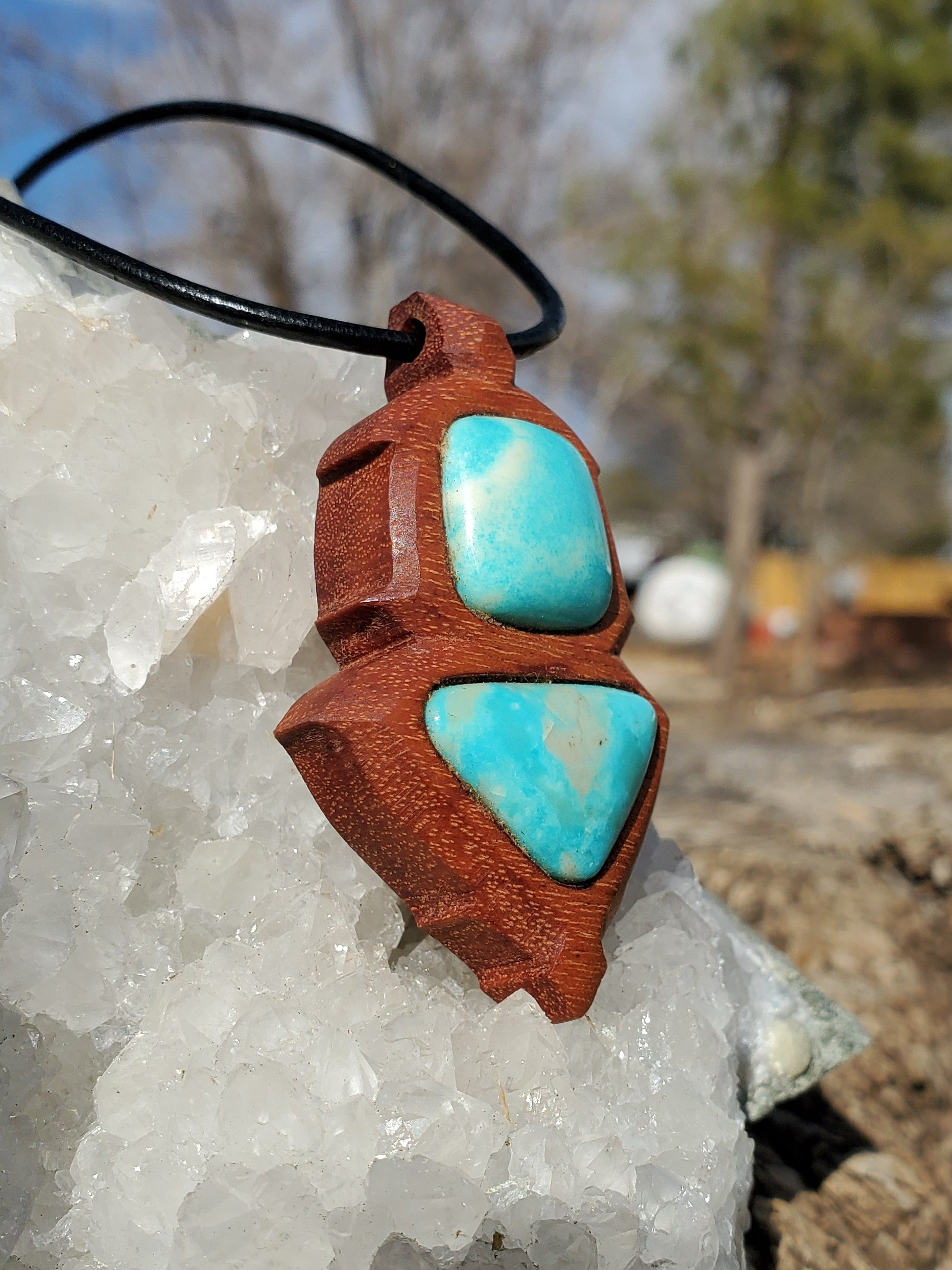 Turquoise in Tigerwood