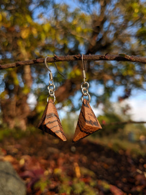 Zebra Wood Earrings