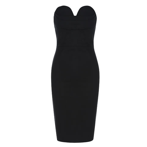 Black Cut-out Midi Dress