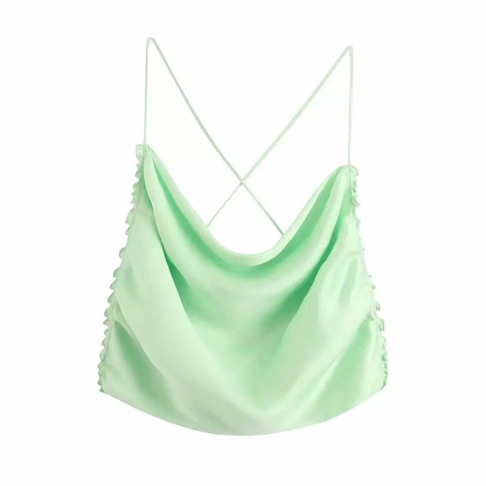 Ryan- Green Backless Party Top uloani.myshopify.com