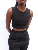 BLACK SANDY CAMI CROP TOP uloani.myshopify.com