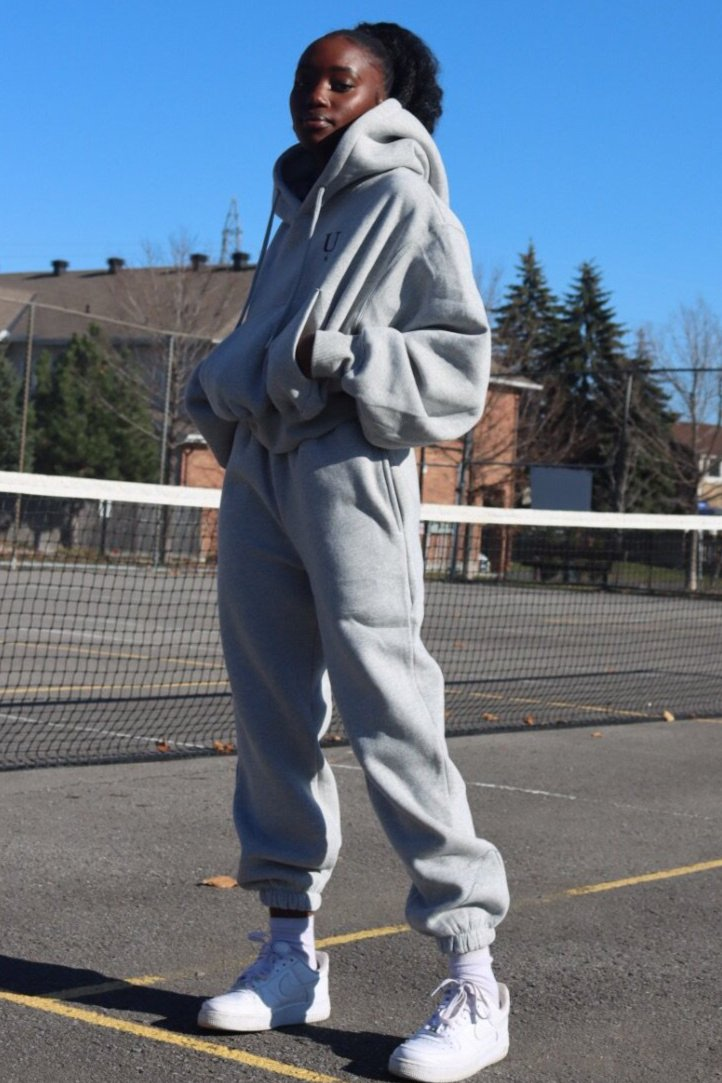 LIGHT GREY PALOMA SWEATPANT SET